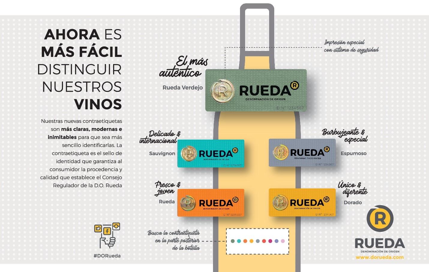 LOS VINOS DE LA D.O. RUEDA, MÁS FÁCILES DE DISTINGUIR CON SUS NUEVAS CONTRAETIQUETAS