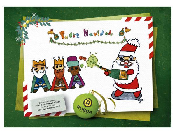 Tarjeta Navidad Rueda